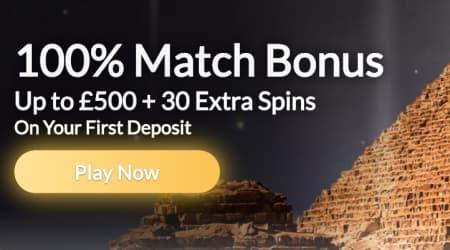 Nile Casino 100% Match Bonus