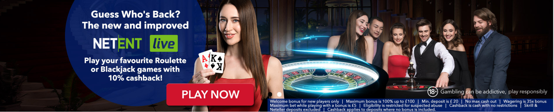 All British Casino Live Casino Banner