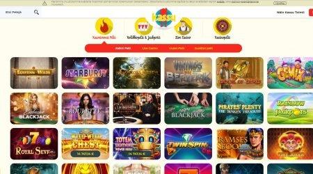 Kassu casino tarjoaa laajan ja laadukkaan pelivalikoiman