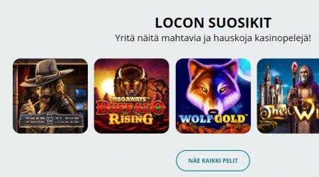 Locowin casinon parhaat pelit