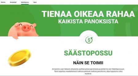 Piggy Bang Casinolla rahaa kertyy säästöpossuun joka panoksella