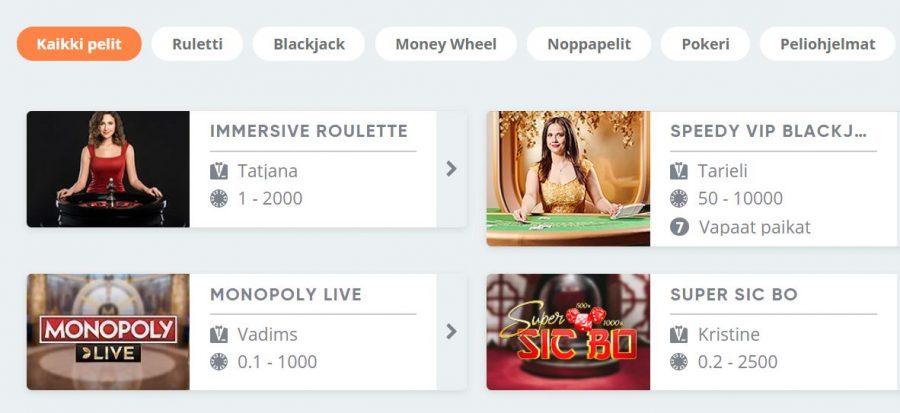 SImple casino livekasino