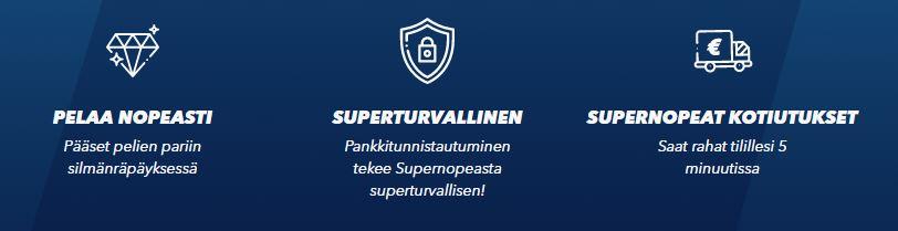 SuperNopea Casino toiminta, kotiutukset