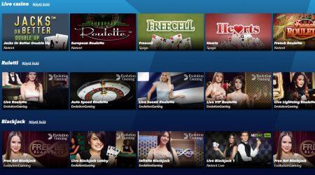 SuperNopea tarjoaa myös live kasinon