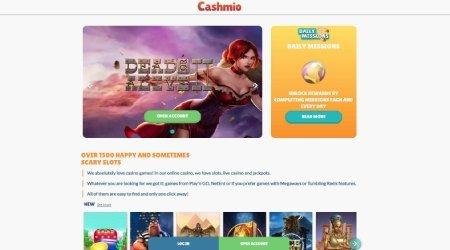 Cashmio man casino page
