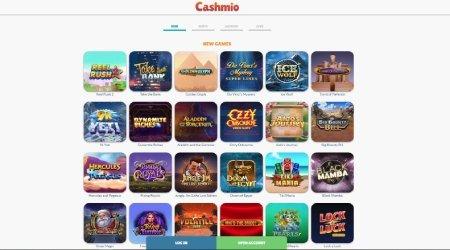 Cashmio slot machine page
