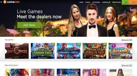 Casino.com live dealer page