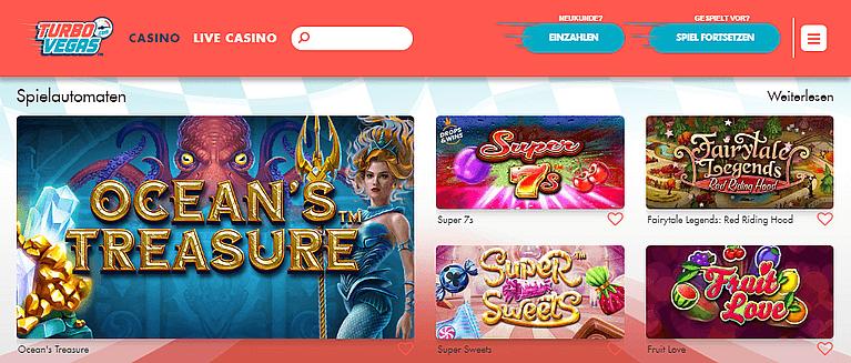 TurboVegas Casino Spiele