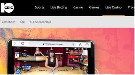 10Cric Casino India Homepage