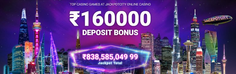 JackpotCity Casino India Homepage Bonus Amount