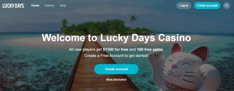 Lucky Days Welcome Bonus Canada