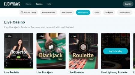 Best live casino games.