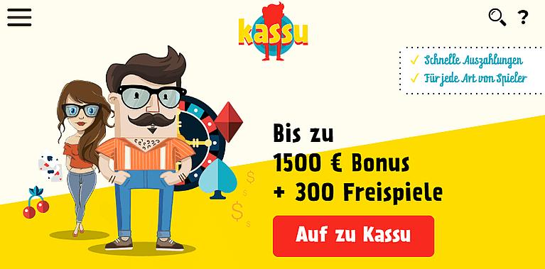 Kassu Casino Bonus für Neukunden