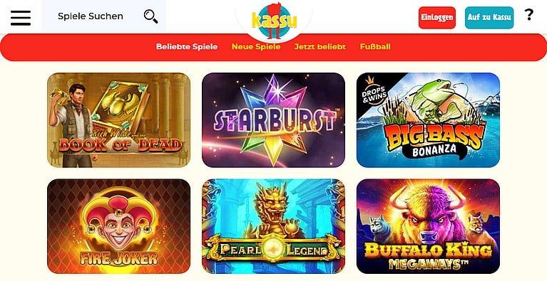Kassu Slot Spiele