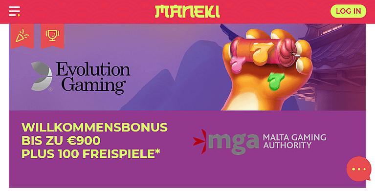 Maneki Casino Bonus für Neukunden