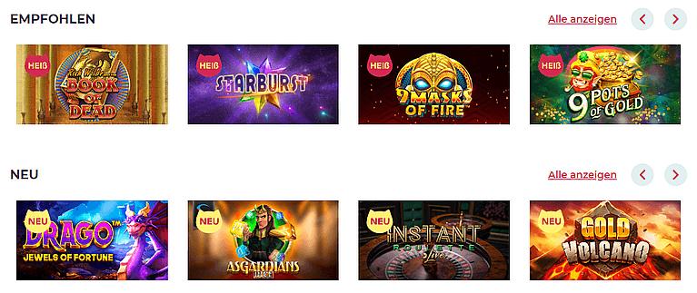 Maneki Casino Spiele und Slots