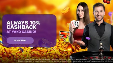 Yako online casino cashback promotion