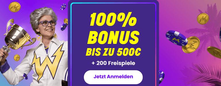 Wildz Online Casino Bonus