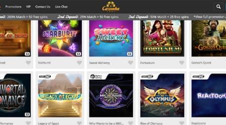 Casimba games selection