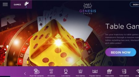 Genesis Casino Live Table Games.