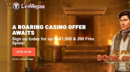 LeoVegas online casino welcome offer.