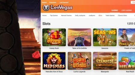 LeoVegas online slot games.