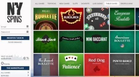 NY Spins Live Dealer Games.