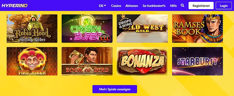 Hyperino Casino Spiele