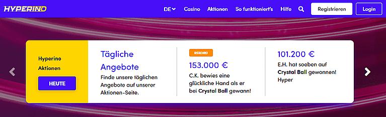Hyperino Casino VIP & Aktionen