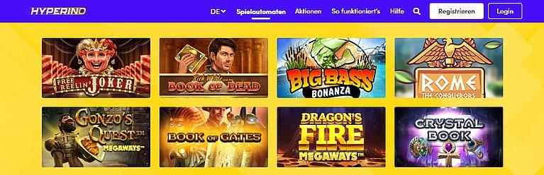 Hyperino Slot Spiele