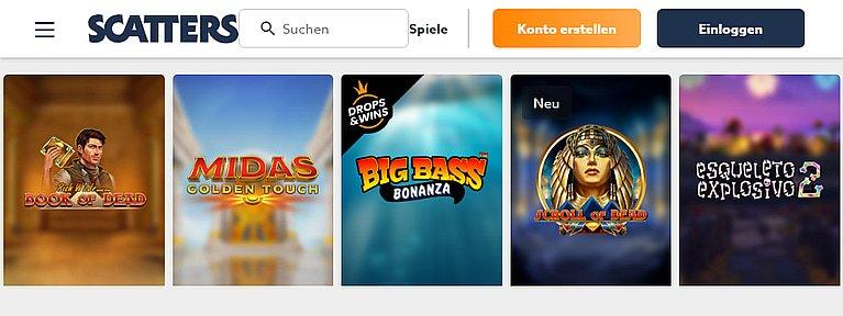 Scatters Slot Spiele