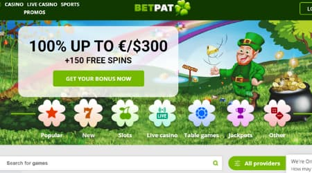 BetPat Welcome bonus