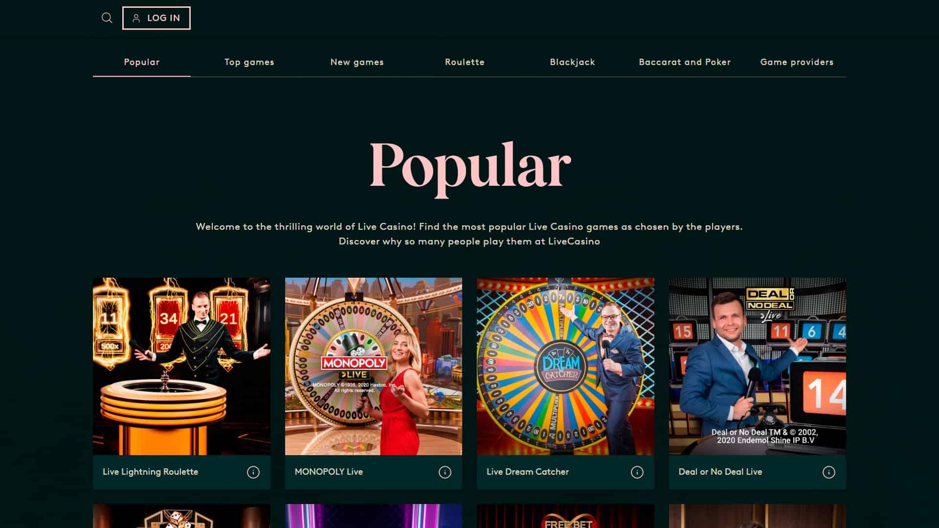 LeoVegas Launches Two Live Casinos