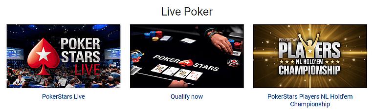 Pokerstars Live Poker