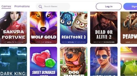 Tsars Casino online game offer