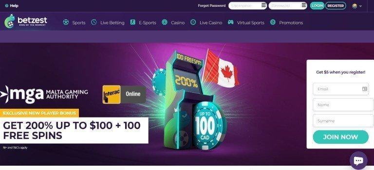 Betzest Bonus Canada