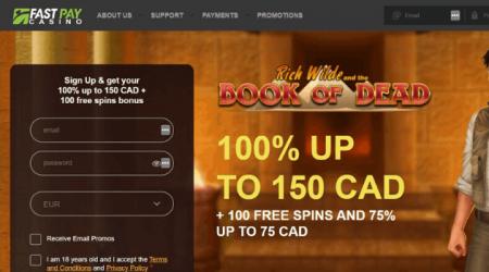 fastpay casino welcome bonus.