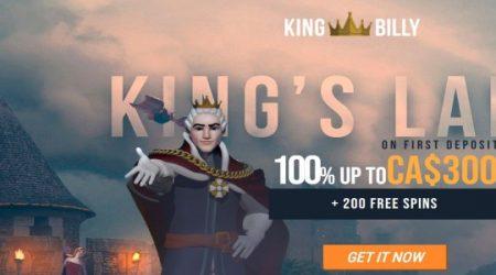 King Billy casino bonus canada.