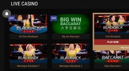 King Billy Live Casino Games.