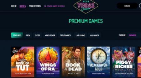 NeonVegas online games.