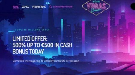 NeonVegas casino bonus canada.
