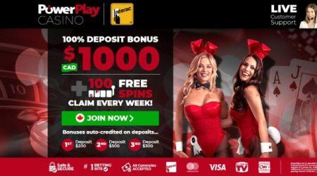 PowerPlay casino welcome bonus.