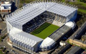 Overview of St. James Park Football Stadium