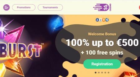 Yoyo Casino welcome bonus