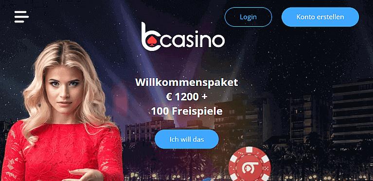 bCasino Bonus für Neukunden