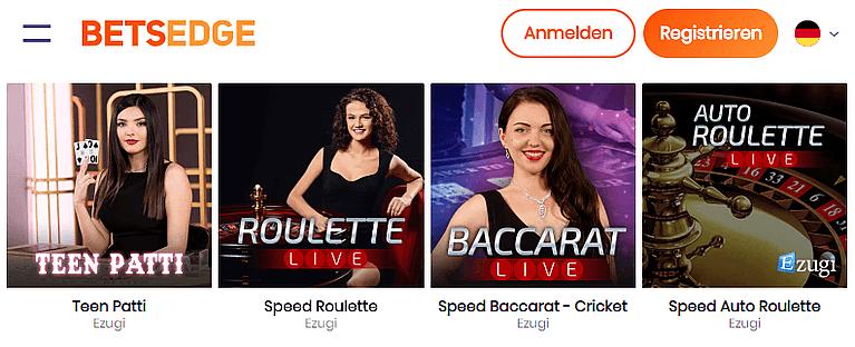 BetsEdge Casino Live Casino