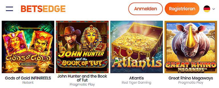 BetsEdge Casino Spiele
