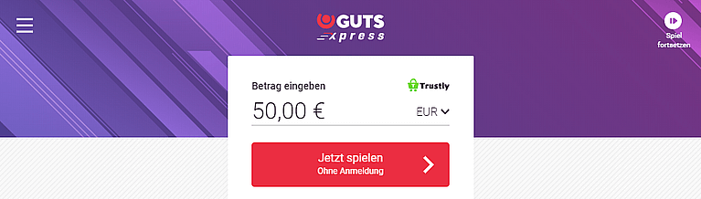 GutsXpress Casino mit Pay N Play