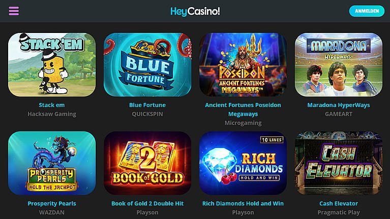 Heycasino Slot Spiele