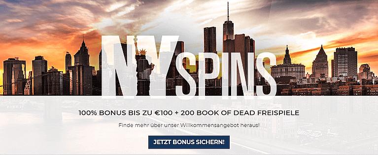 NYspins Casino Bonus für Neukunden